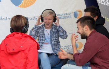 Radio Biwak na sędziszowskim rynku