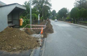 Budowa chodnika w Górze Ropczyckiej