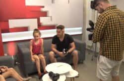 Dzieci w studio TVS
