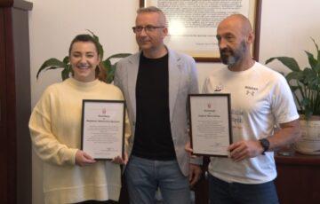 Burmistrz pogratulował rodzinie Białoruckich